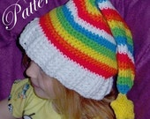 "Rainbow Hat with Star """"""P A T T E R N"""""""