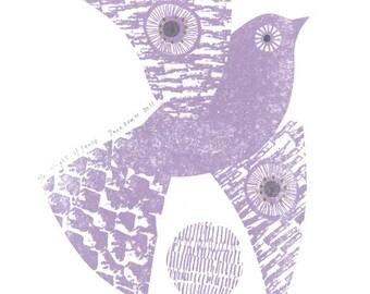 Flight of Fancy gocco print by Jane Ormes