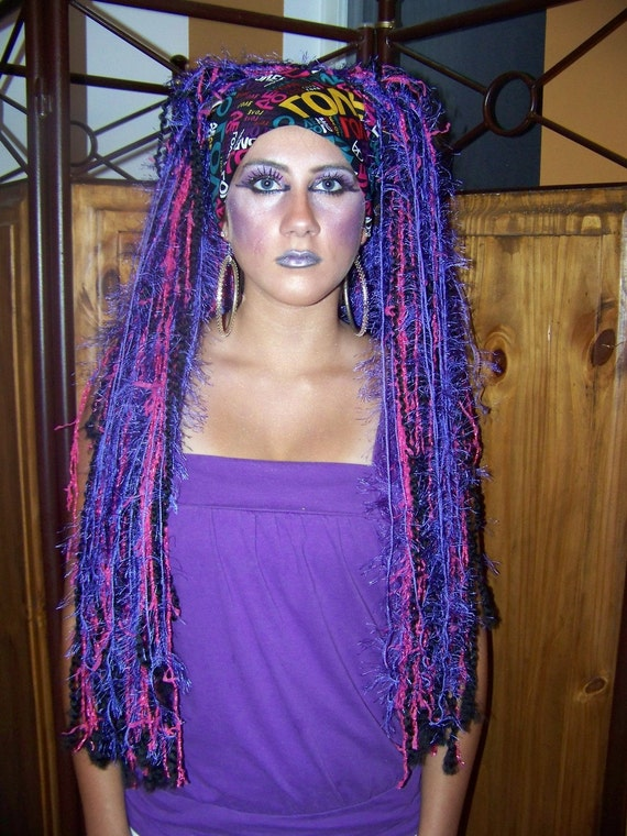 Items similar to Purple Wig, Cosplay, Halloween Costumes ...
