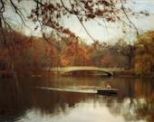 Autumn Photography Fall Decor NYC Art Central Park Photography Romantic Nature Photography Landscape Photo 12x18 PRINT - Autumn's Wonder