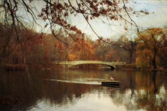 NYC Art Central Park Photography New York City Autumn Photography Fall Decor Romantic Nature Landscape Photo - Autumn's Wonder