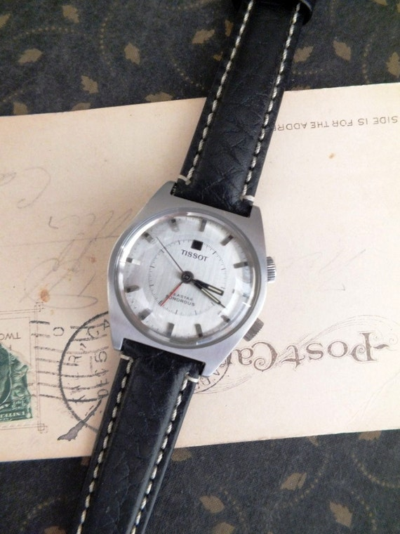 Vintage 1960s Tissot Wrist Watch Working by avintageobsession on etsy...20% Discount