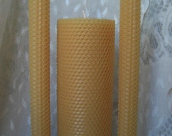 Hand-rolled Beeswax Candle Set