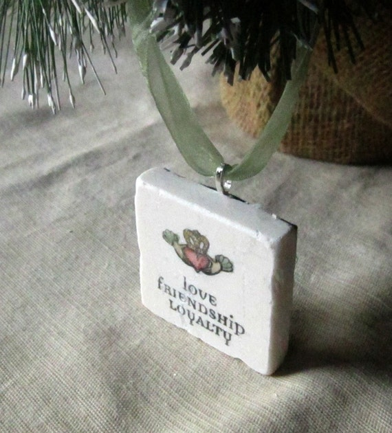 Claddagh Holiday Ornament - Christmas Friendship Gift - St. Patrick's Day Present