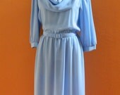 Sheer Blue Vintage Dress by Gilberti