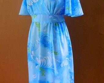 Seventies Blue Vintage Dress