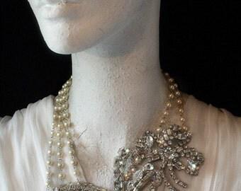Bridal Necklace. A Windswept Wonder. Downpayment for a Kay Adams Custom Bridal Rhinestone Wedding Necklace.