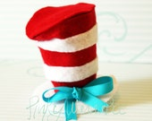 Cat in the hat top inspired photo prop for boys or girls / 1st one on etsy.. no copy cat..