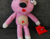 Pink bear with purse