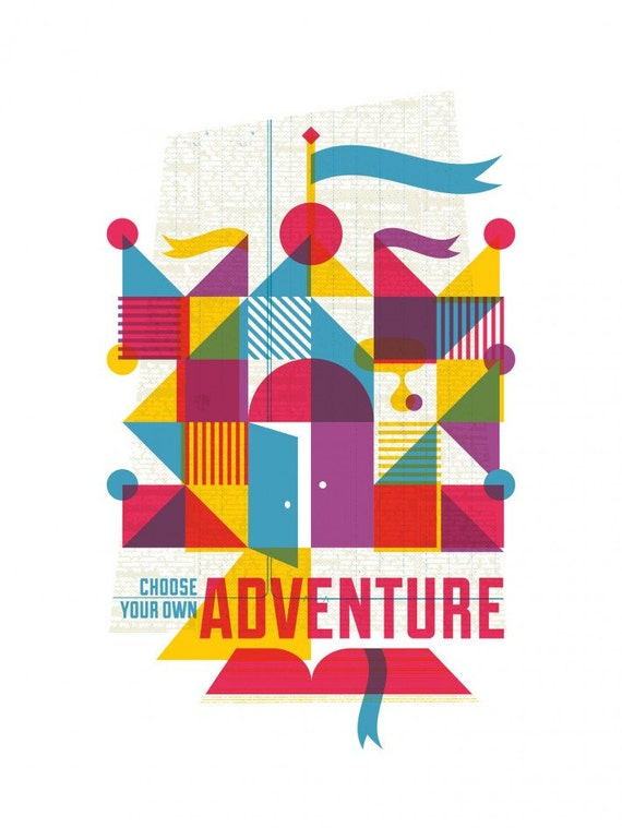 Adventure: limited edition screen printed art inspired by old children's books