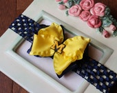 Bow Headband with Michigan Charm Great Photography Prop