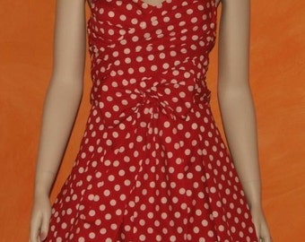 dress / 1950's /  retro / vintage styled / polka dots / classic / pinup / OOAK / designer / handmade / cotton
