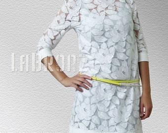SALE White Lace Dress
