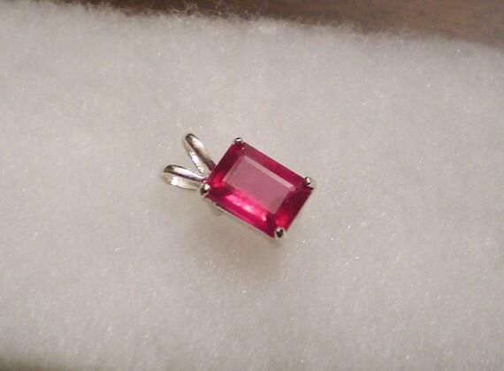 SALE (was 38.00) 8x6mm Beautiful Ruby Pendant