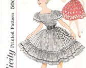 Simplicity 3295 - 1950s Skirt and Peasant Blouse UNCUT Vintage Sewing Pattern Flounce Skirt Rockabilly Size 11