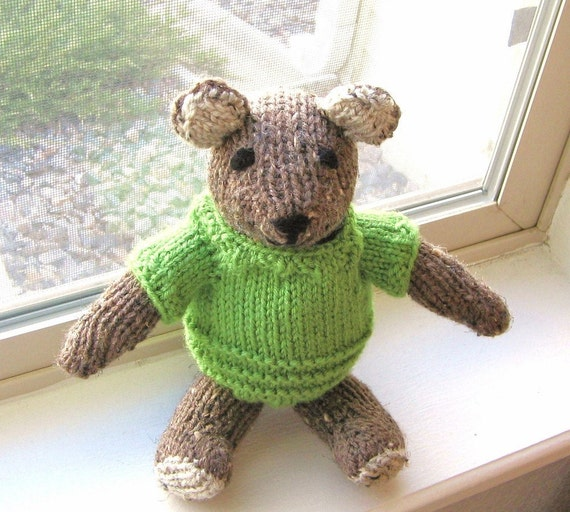 Hand Knitted Plush Teddy Bear Stuffed Animal Baby Toy Kids Holiday