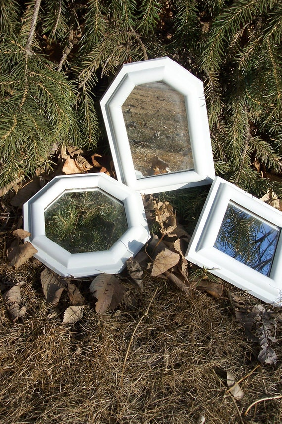 mirror small white framed mirrors set of 3 for an by
