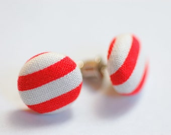 Sailorette Button Earrings