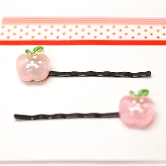 Powder Pink Apple Hair Pins