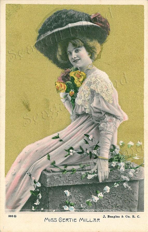 Edwardian Actress Gertie Millar Post Card - Vintage - Unused