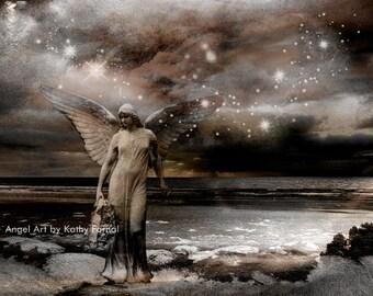 Angel Photography, Celestial Angel Photos, Ethereal Spiritual Angel Art Print, Dreamy Angel Art Photograph, Surreal Angel Art Fantasy Print