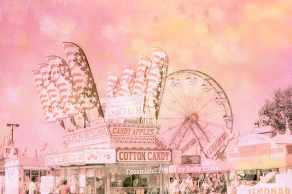 Pink Carnival Photography, Baby Girl Nursery Ferris Wheel, Dreamy Baby Girl Pink Carnival Prints, Pink Carnival Nursery Photos, Cotton Candy