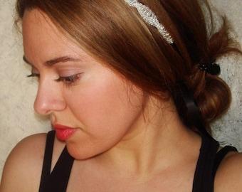 Wedding Headband, Accessories, Hair, Bridal, Headband, ATHENA, Rhinestone Headband, Wedding Headpiece, Bridal Headpiece, Hair Accessory