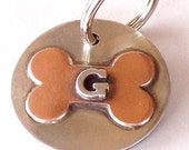 Handmade Dog Tag - Your Pet's Initial in Sterling - Dog Tag - ID Tag - Pet Tags