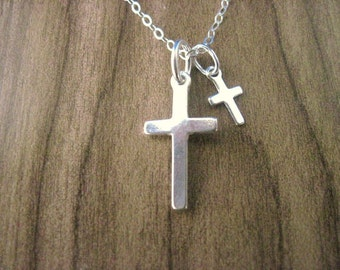 Sterling Silver Cross Pendant Necklace