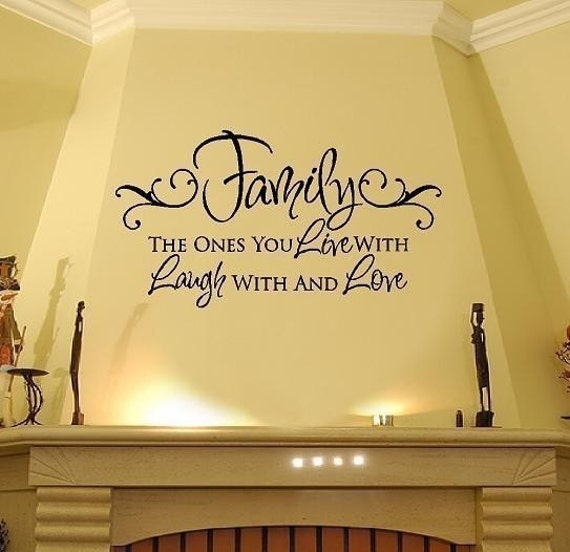 Family Wall Decals - Live Laugh Love Vinyl Wall Decal Quote Lettering Transfer  22H x 36W QT0019