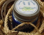 Fields of Bluebonnets (Texas Bluebonnet scent) - 8 oz Western Texas Cowboy Mason Jar Candle