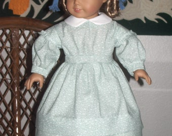 1850s Style Work Dress for your American Girl Kirsten or other 18 inch doll
