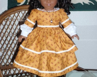 Mid 1800s Civil War Era Dress American Girl Cecile Marie Grace Addy 18 inch doll