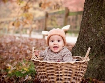 Peter Rabbit Bunny Hat, Knit Baby Hat,  great photo prop