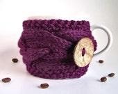 Coffee Sleeve, Last Minute Gift, Coffee Cup Cozy, Tea Cozy, Coffee Mug Cozy, Knit Coffee Cozy, Knit Coffee Sleeve, Ready To Ship