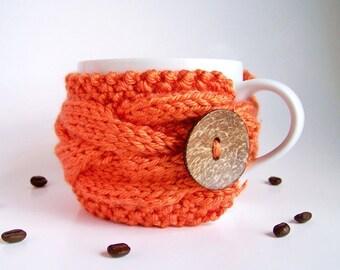 Coffee Cozy, Coffee Mug Cozy, Coffee Sleeve, Coffee Cup Cozy, Tea Cozy, Coffee Cup Sleeve, Cup Warmer, Knit Coffee Decor, Coffee Gifts
