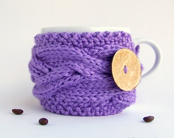 Coffee Cozy, Tea Cozy, Coffee Cup Cozies, Coffee Mug Cozy, Coffee Cup Sleeve, Coffee Cup Cozy Coffee Mug Sleeve Coffee Sleeve Lavender Gifts