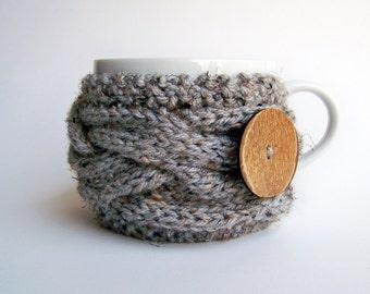 Knit Coffee Cozy - Tea Cozy - Coffee Cup Sleeve - Coffee Mug Cozy - Coffee Cup Cozy - Gifts Under 20