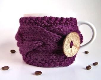 Coffee Sleeve, Coffee Cozy, Gifts Under 20, Coffee Cup Cozy, Tea Cozy, Coffee Mug Cozy, Knit Cup Cozy, Coffee Mug Sleeve, Coffee Cup Sleeve