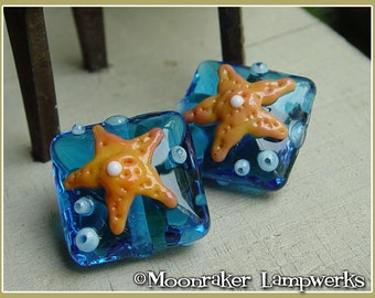Starfish Tile Lampwork Bead