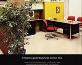 1973 ad Office Furniture by All-Steel retro desk chair shelves cabinet vintage 1970s design interior decor for framing - Free U.S. shipping