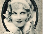 1930 Hope Hampton photo illustration / Mary Astor on reverse / movie star actress flapper retro wall decor for framing - Free U.S. shipping