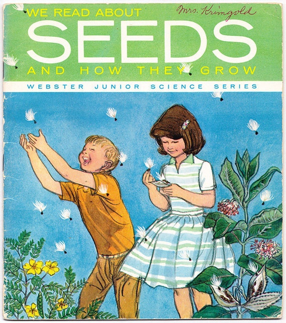 1960 We Read About Seeds and How They Grow book paperback vintage junior science botany horticulture sprout experiments - Free U.S. shipping