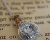 Moonlight in a Vial - Full Moon Necklace - Glass Vial Necklace