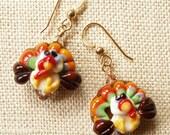 Turkey Earrings,  Thanksgiving Earrings, Fall Jewelry