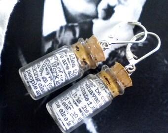 Oscar Wilde in a Jar Earrings