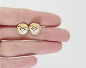 barn owl post earrings