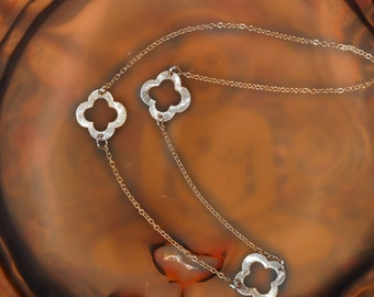 Silver Clover Necklace