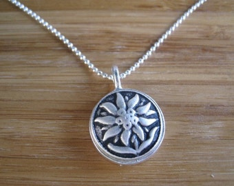 SALE Sunflower Necklace - Sterling Silver Flower Necklace