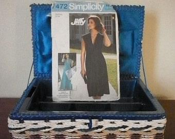70's classic stretch knit  Maxi dress pattern size 12-14 Simplicity 7472